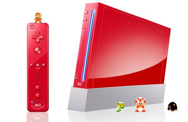 Il Nintendo Wii si tinge di rosso per celebrare Super Mario