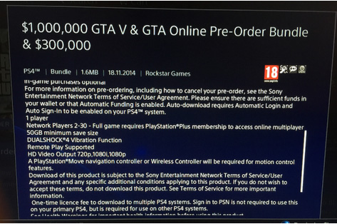 GTA 5: la versione PlayStation 4 richiederà circa 50 GB di spazio