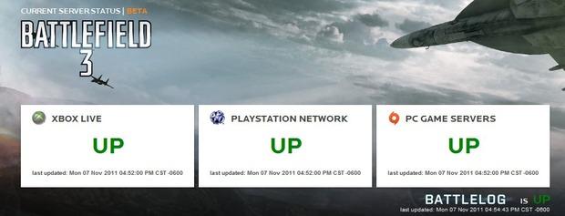 Battlefield 3: lo status dei server è ora consultabile su internet