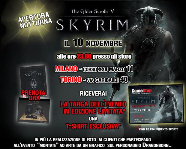 The Elder Scrolls V Skyrim: diventa un Dragonborn in anteprima nei Gamestop di Milano e Torino