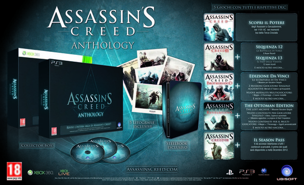 Ubisoft conferma l'Assassin's Creed Anthology
