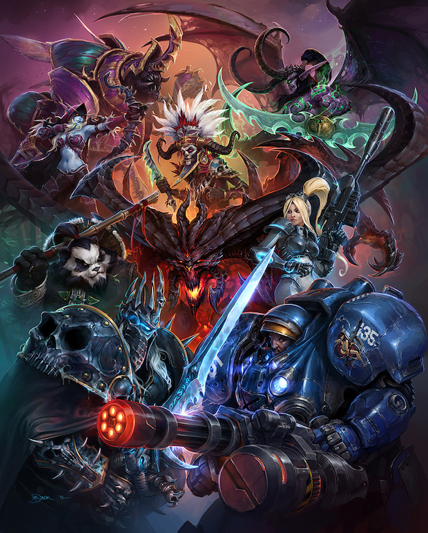 Heroes of the Storm: primo artwork del gioco