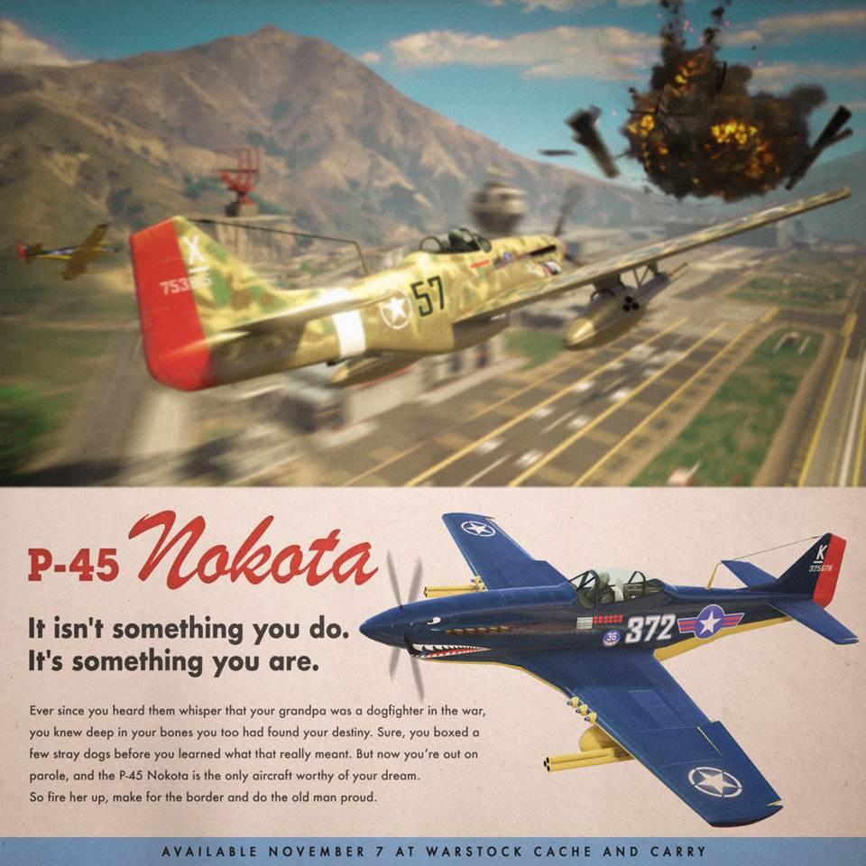 Trucco Aereo Da Caccia Gta 5 : Gta online caccia p nokota e nuova modalità duello aereo