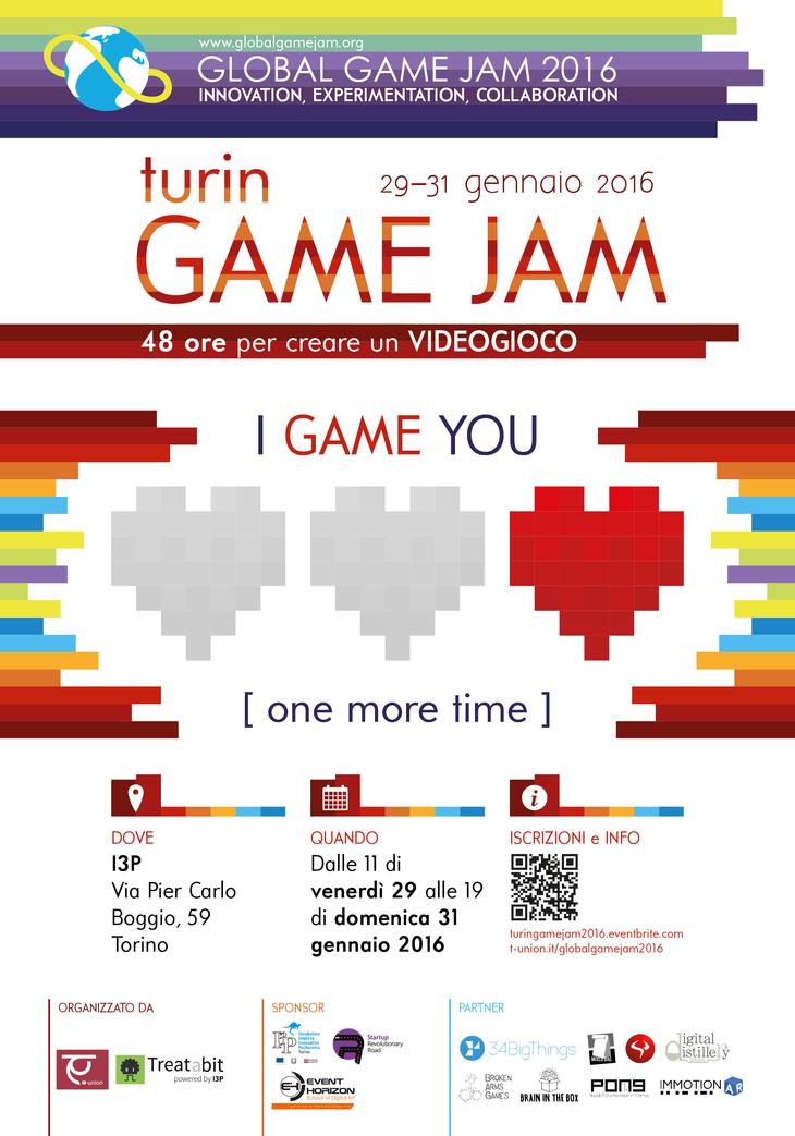 Global Game Jam 2016 a Torino dal 29 al 31 gennaio