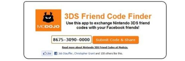 Nintendo 3DS: Modojo pubblica una app Facebook per condividere il proprio codice amico