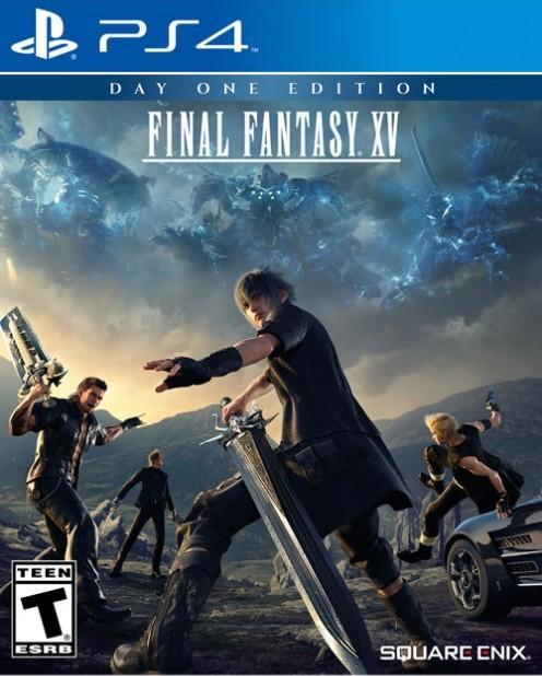 Final Fantasy XV: Uno sguardo alla copertina americana