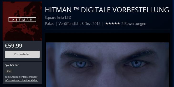 Square Enix aumenta il prezzo di Hitman