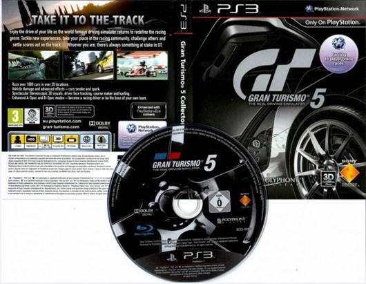 Fotografata la copertina e il disco di Gran Turismo 5