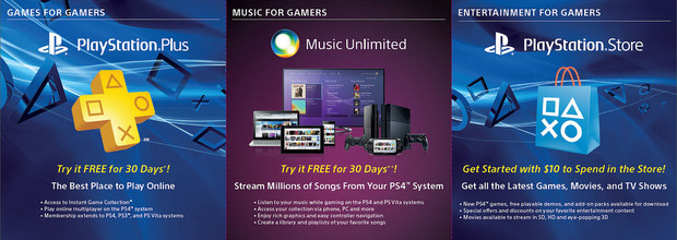 PlayStation 4: Sony regala 10 Dollari di credito per il PSN e 30 giorni di PS Plus e Music Unlimited