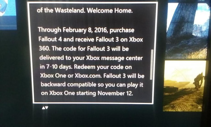 [Aggiornata] Microsoft regala Fallout 3 a chi preordina Fallout 4
