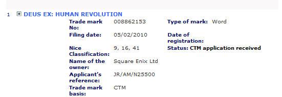 Square Enix regista il marchio Deus Ex: Human Revolution