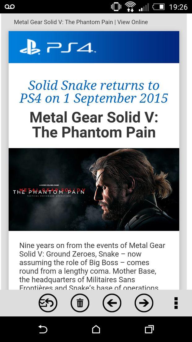 Solid Snake tornerà in Metal Gear Solid 5 The Phantom Pain?