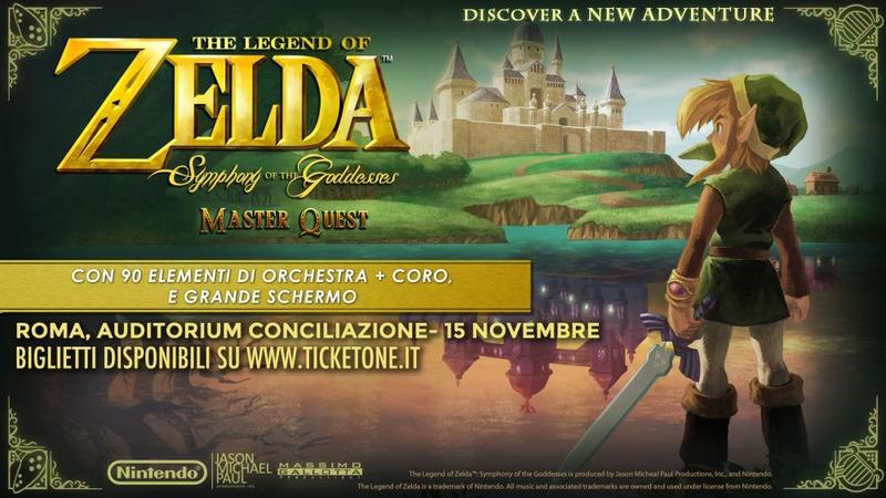 Il 15 novembre a Roma va in scena The Legend of Zelda Symphony of the Goddesses