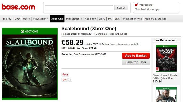 Scalebound uscirà a fine marzo?