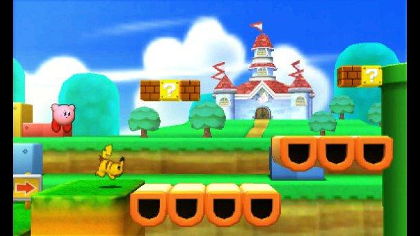 Super Smash Bros 3DS: un'immagine per l'arena di Super Mario 3D Land