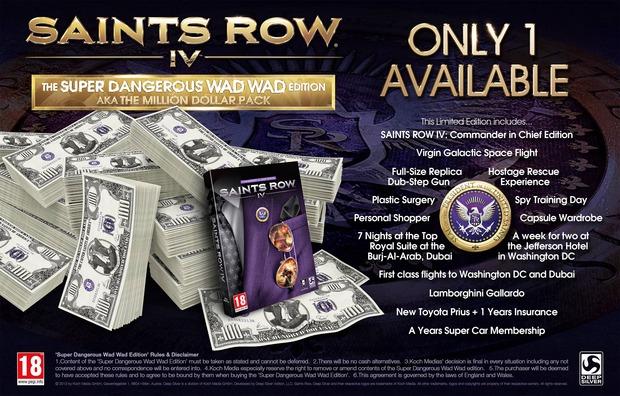 Saints Row IV: Limited Edition da un milione di dollari!!!