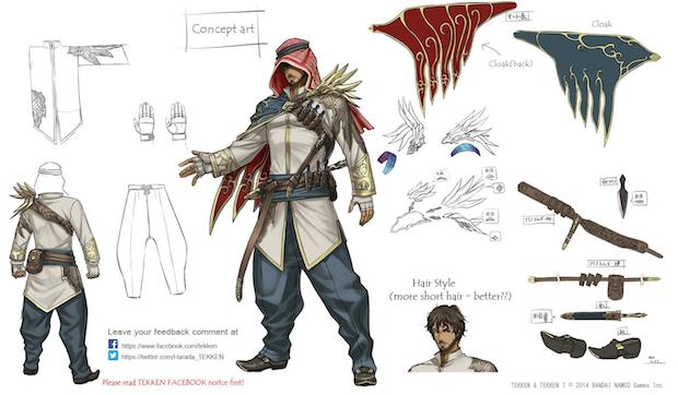 Tekken 7: concept art di un nuovo personaggio