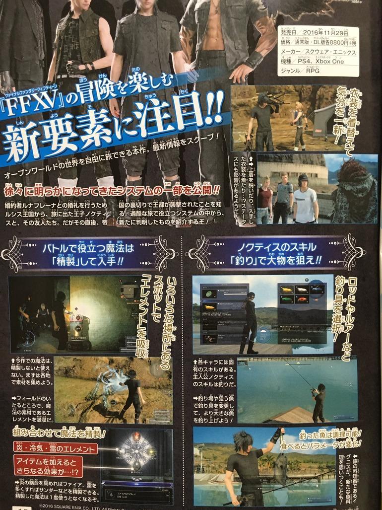 Final Fantasy XV: pesca, mix di magie e nuovi outfit mostrati su Jump