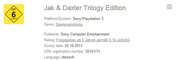 Jak & Daxter HD Collection valutata dall'USK [Aggiornamento]