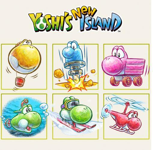 Yoshi's New Island: le trasformazioni si mostrano in un'immagine