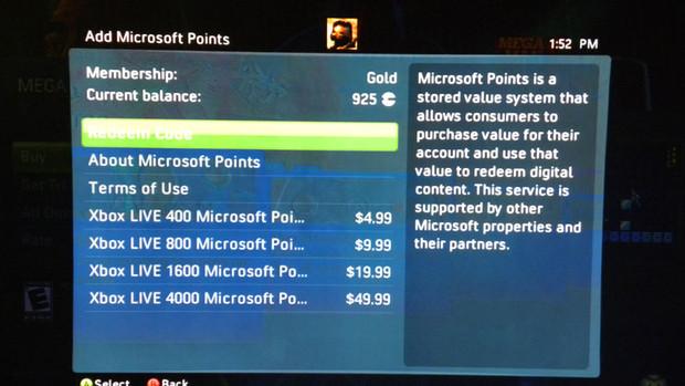 Migliorato in USA il sistema di acquisto dei Microsoft Points