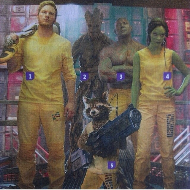 Guardians of the galaxy nuova foto di gruppo in low res
