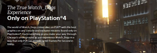 Watch Dogs: secondo l'official PlayStation site il gioco gira a  1080p/60fps su PS4
