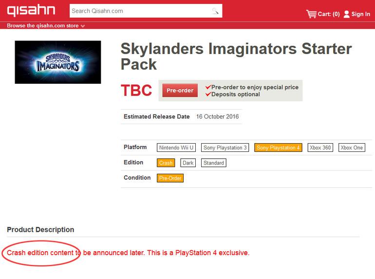 Crash Bandicoot arriverà in Skylanders?