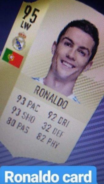 FIFA 18: trapelano le statistiche della carta di Cristiano Ronaldo