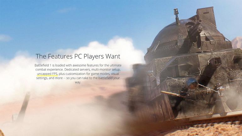 Battlefield 1 non avrà nessun limite fps su PC