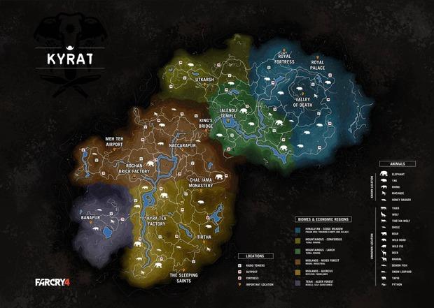 Far Cry 4: la mappa del gioco trapela sul web