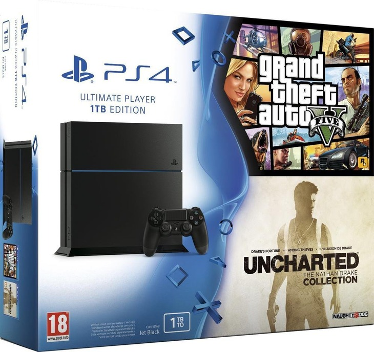 PlayStation 4: avvistato un nuovo bundle con GTA V e Uncharted The Nathan Drake Collection