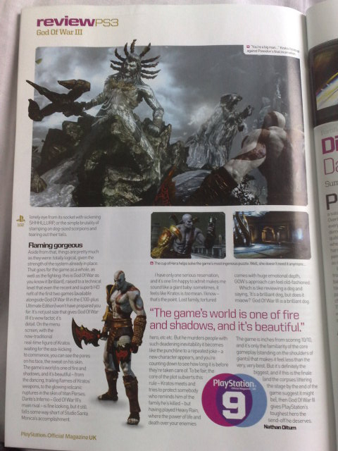 God of War 3, primo voto dalla recensione di PlayStation Magazine UK