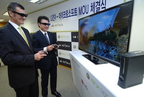 I giochi 3D per Xbox 360 arrivano tramite i televisori LG