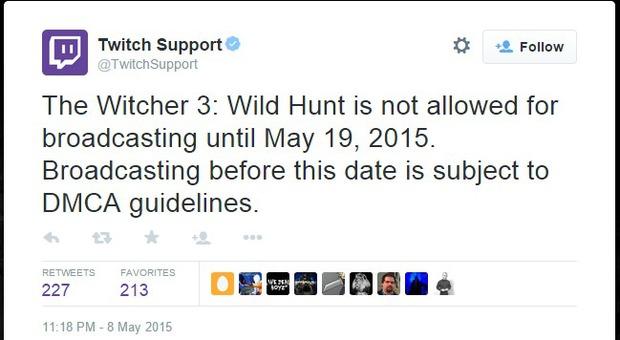 The Witcher 3 venduto in anticipo: il team cerca di limitare i leak, Twitch vieta lo streaming