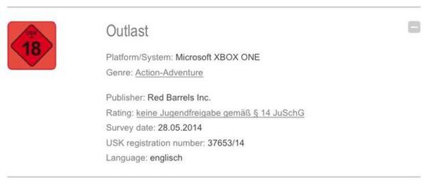 Outlast in arrivo per Xbox One?