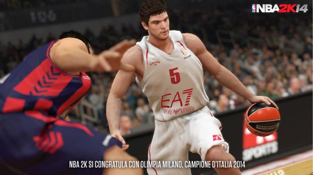 NBA 2K14 festeggia lo scudetto di Olimpia Milano con uno screenshot