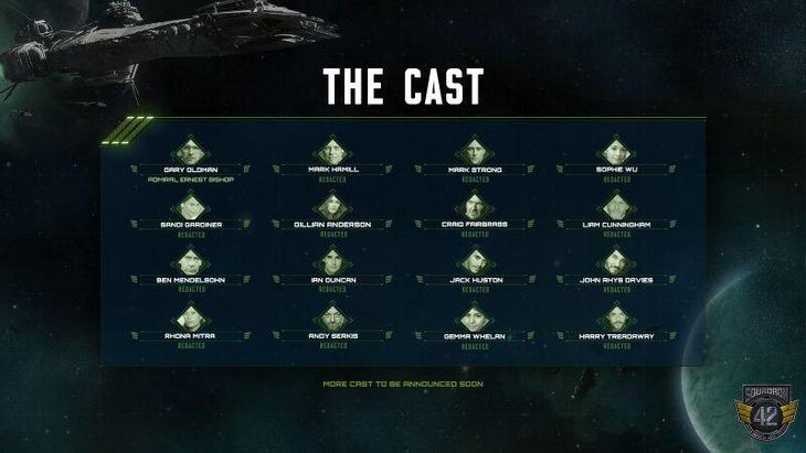Un cast stellare si aggiunge alla galassia di Star Citizen