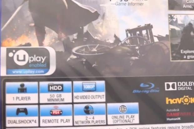 Assassin's Creed Unity: la versione retail per PS4 richiede almeno 50 GB di spazio su disco?