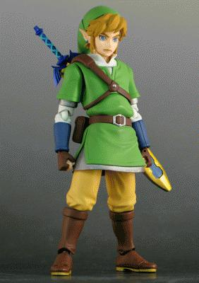 [Eye Want It!] The Legend of Zelda: Skyward Sword Metal Keychain Collection e statua di Link by Figma