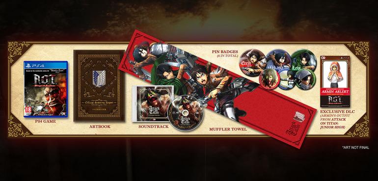 Presentata una limited edition per Attack on Titan Wings of Freedom
