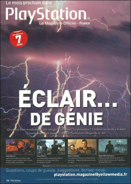 La rivista Official PlayStation Magazine France preannuncia 'un Lampo di Genio'