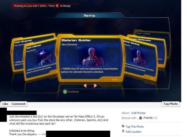 Mass Effect 3: un'immagine rivela l'arrivo di un DLC dedicato al multiplayer