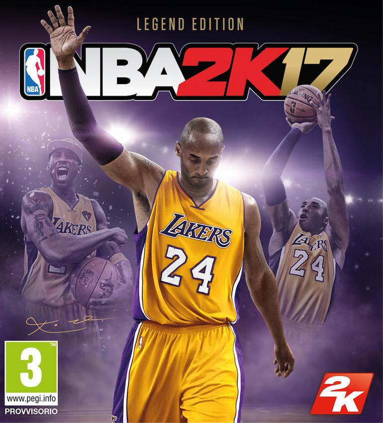 NBA 2K17: Kobe Bryant sarà la star di copertina della Legend Edition