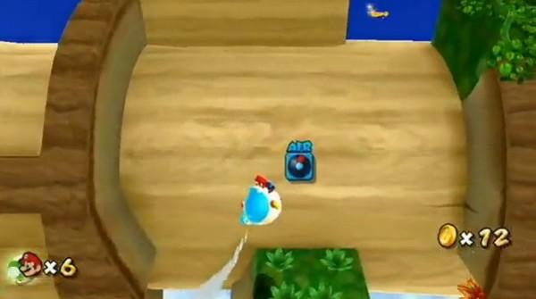 Super Mario Galaxy 2, Yoshi galleggiante in una clip video