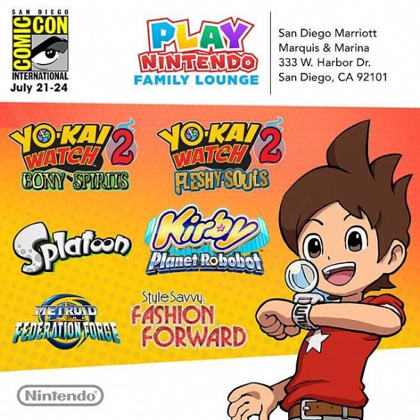 Nintendo svela la line-up per il Comic Con di San Diego