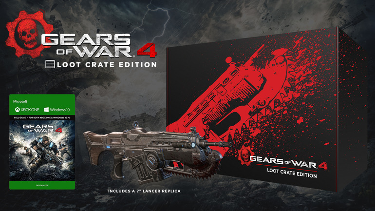 Gears of War 4 Loot Crate Edition include una replica del Lancer