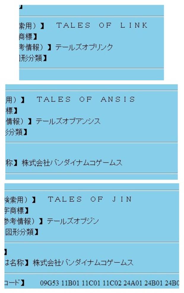 Namco Bandai registra nuovi marchi legati alla saga Tales of