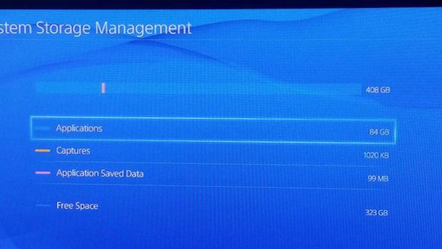 PlayStation 4: lo spazio utilizzabile su hard disk ammonta a 400 GB