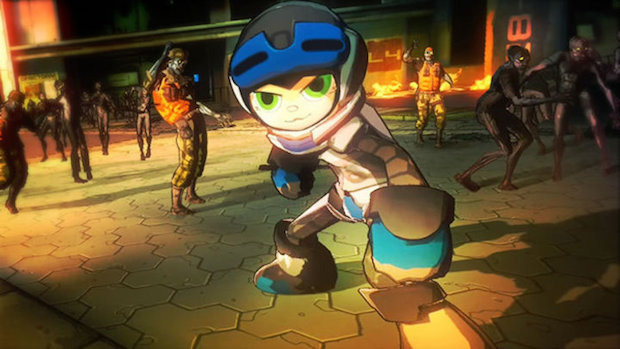 Mighty No. 9, cameo in Yaiba: Ninja Gaiden Z